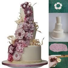 wedding cake tutorial vintage fabric flower topsy turvy wedding cake tutorial cake