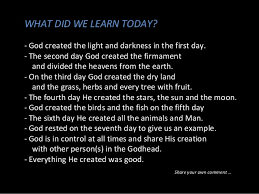 what day did god create light 05 creation