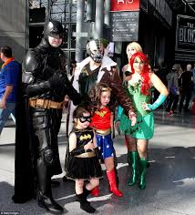 new york comic con sees cosplayers dress up as superheros and
