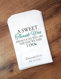 wedding favor bags sweet thank you personalized candy bags