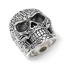 baby silver rings images King baby jewelry sterling silver men 39 s pinstripe skull ring jpg