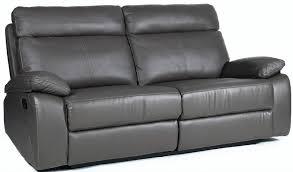 canapé cuir relax 3 places canapé de relaxation 3 places manuel cuir gris aron lestendances fr