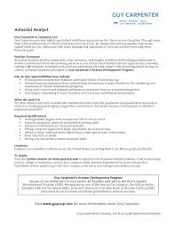 Qa Analyst Resume Sample Entry Level Actuary Resume Resume For Your Job Application
