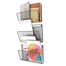 amazon com 2 ikea spontan silver magazine racks holders home