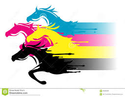fast cmyk printing concept stock vector image 66069595