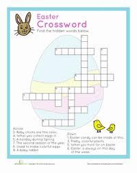 easter crossword worksheet education com