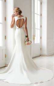 structured wedding dress this modern keyhole back wedding dress by stella york features a