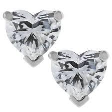 heart shaped diamond earrings and co platinum heart brilliant cut diamond earrings