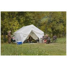 guide gear canvas wall tent 10 u0027 x 12 u0027 175423 outfitter