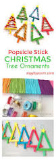easy diy kid u0027s christmas ornaments made with neon popsicle sticks