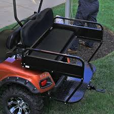 e z go txt rear seat utility box golf cart rear seat kit flip