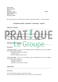 comp騁ences commis de cuisine modèle de cv pour un stage en bep hôtellerie restauration pratique fr