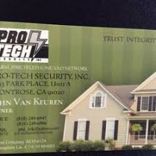 pro tech security security systems 3725 park pl glendale
