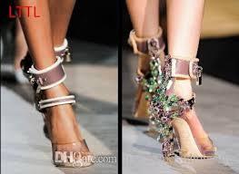 Rhinestone Sandal Heels New Crystal Covered Metal High Heels Rihanna Wearing Shoes