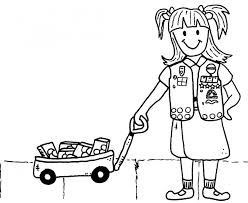 scout cookies coloring pages lock screen coloring scout
