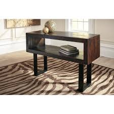 Metal And Wood Sofa Table by Rustic Solid Acacia Wood Sofa Table With Metal Base By Signature
