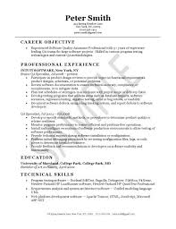 Sample Resume For Qtp Automation Testing by Sample Qa Resumes Experience Resumes
