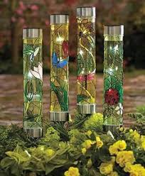Ladybug Solar Garden Lights - solar flower garden stake light yard outdoor lawn decor patio