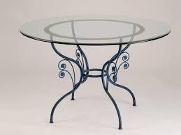 table de cuisine ronde en verre table verre fer forgé ronde de salle à manger graziella table à