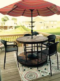 outdoor tables made out of wooden wire spools custom spool table brico recycle pinterest backyard wooden