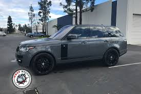range rover dark green professional vehicle wrap installers los angeles orange county