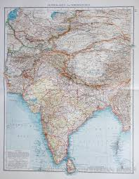 Map Of Central Asia by Map Of Central Asia And India 1903