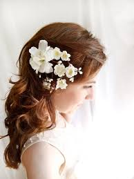 flower hair accessories white flower hair clip wedding hair accessories earth angel