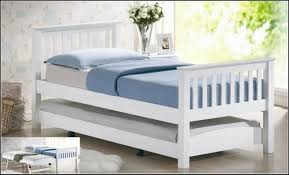 Trundle Beds With Pop Up Frames Bedroom Minimalist Varnished Wooden Bed Frame With Trundle Mixed