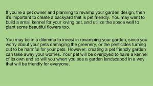 Design A Backyard Pro Tips To Design A Pet Friendly Garden