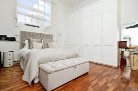 white wardrobe in modern apartment bedroom design ideas with grey
