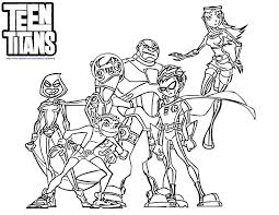 anime teen titans coloring pages coloring pages for all ages
