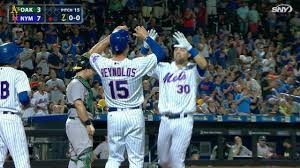 michael conforto homers twice to beat a u0027s mlb com