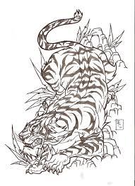 beautiful outline tiger japanese tattoo sketch tattooshunter com