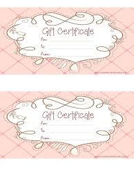 online gift certificates free gift certificate template customize online and print at