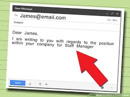 email cover letter 5 ways to write a cover letter wikihow