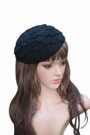 a084 black multi petal fascinator hats for weddings womens dress