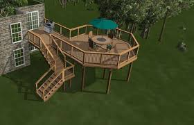 Deck Plans Deck Ideas Deck Designs DIY Deck Plans - Backyard deck designs plans