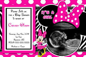 baby shower invitations minnie mouse baby shower invitations