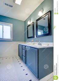 Blue And White Bathroom by Blue And White Classic Modern Bathroom Stock Photography Image