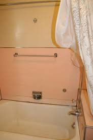 noelle u0027s 1930s bathroom with pink panel walls retro renovation