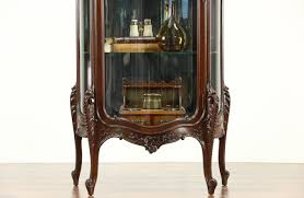 curio cabinet antique china cabinets display curio french