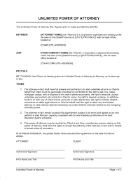 power of authority template unlimited power of attorney template sle form biztree