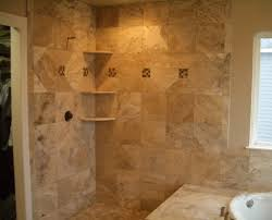 travertine bathroom ideas perfect travertine floor tiles with corner shelves for best