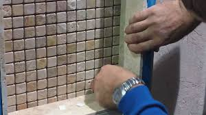 shower tile installation how to install glass shelving youtube