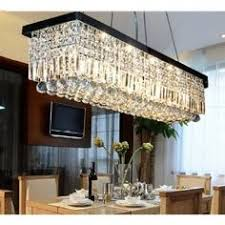 CRYSTOP Clear K Crystal Chandelier Dining Room Light Fixtures - Modern chandelier for dining room
