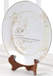 personalized anniversary plate 50th wedding anniversary sees with the heart