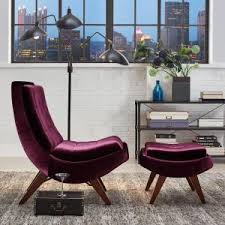velvet chair and ottoman homesullivan purple velvet chair with ottoman 40876s350s 3a the