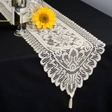 Plastic Table Runners Decor Enchanting Lace Table Runners For Table Decoration Ideas