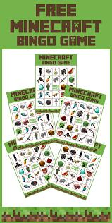 free printable minecraft bingo game catch my party