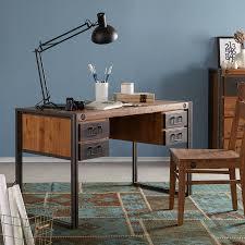 Schreibtisch Kaufen Online Schreibtisch Manchester Ii Akazie Massiv Metall Furnlab Günstig